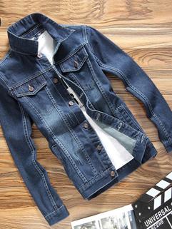 Factory Outlet Turndown Collar Denim Men Jacket