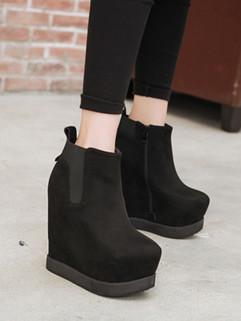 Wholesale Round Toe Wedges Fashion Shoes Women Boots