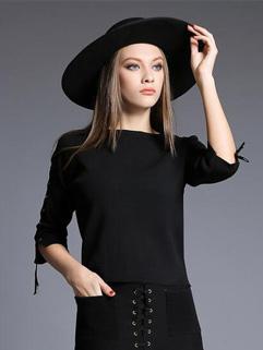 Fashion O Neck Bandage Knitting Tops Design