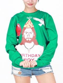 Popular Long Sleeve Print Father Christmas Hoodies Pattern