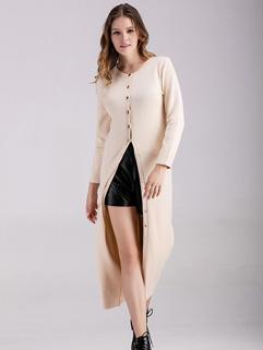 Popular Long Sleeve Plus Size Knitting Coat
