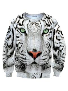 Fashion Tiger Print Long Sleeve Thicken Hoodie