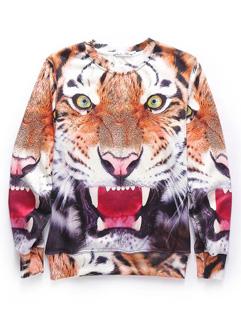 Popular Tiger Pattern Cotton Cheap Print Hoodies