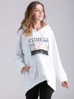 Wholesale Print Long Sleeve Hoodies For Maternity