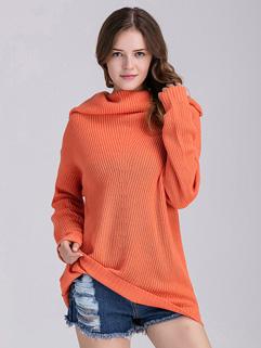 Unique Design Turtleneck Pull Maternity Sweater