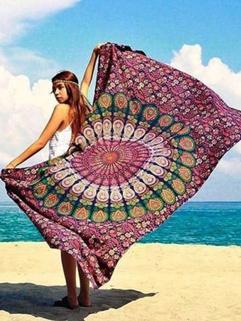 Pashmina Print Rectangle Beach Scarves