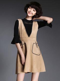 New Fashion V Neck Sleeveless Dresses