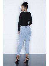 New Fashion V Neck Long Sleeve Bodycon Blouse