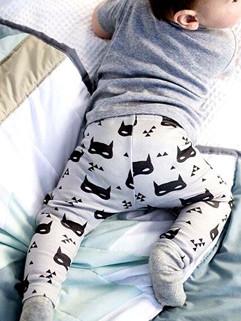 Popular Design Batman Print Children Harem Pants