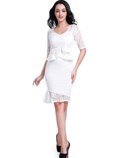 Factory Outlet Lace Patchwork Two Pieces Dresses