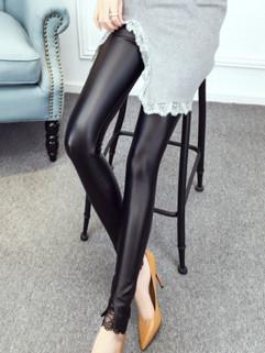 Wholesale Fashion Skinny PU Women Leggings