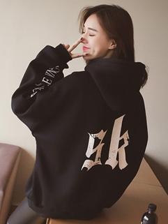 Korean Style Back Print Hooded Oversize Hoodies