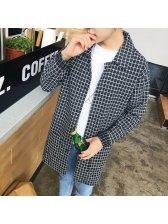 Wholesale Plaid Turndown Collar Men Jackets