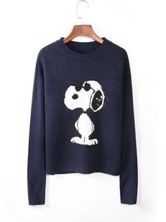Wholesale Cartoon Snoopy Pullover Sweater