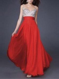 High-end Backless Sequined Decor Evening Dress