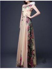 Korean Printing Floral Long Beautiful Dress