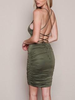 Cheap Sexy Backless Bandage Sleeveless Night Dresses