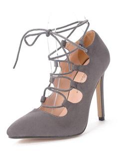 Street Fashion Pointed Toe Thin Heel Cross Bandage Pump