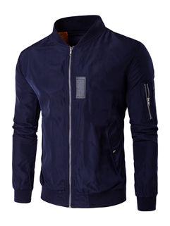 Japan Solid Stand Collar Zipper Men Jackets