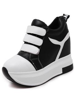 Outlet Round Toe Platform Women Boots Shoes