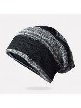 Outlet Color Block Knit Winter Beanie Hat