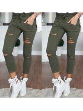 Fashion Ripped Skinny Harem Cotton Pants Design