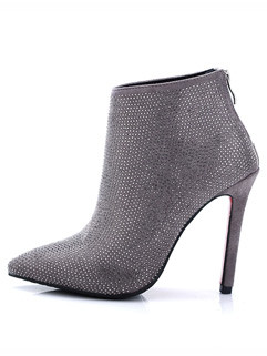 Luxury Pointed Toe Diamond Women Ankle Boots