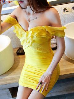 Sexy Backless V Neck Cocktail Dress