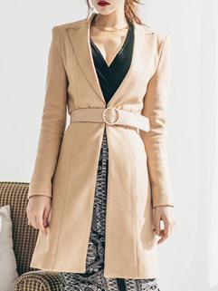 Winter Blazer Wool Khaki Overcoat