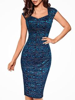 New Printed Sleeveless Bodycon Dress