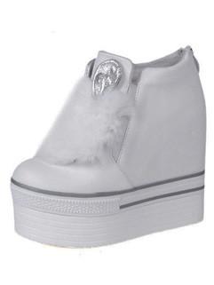 Thicken Zipper Women Fur Boots