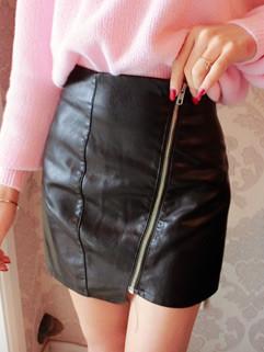 Zipper Solid Women Tight Skirt