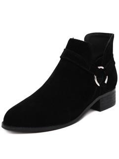 Unique Round Toe Women Ankle Boots
