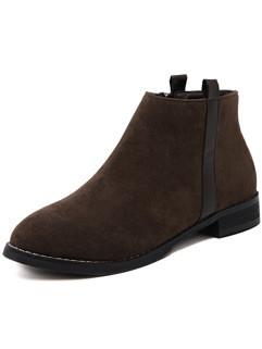 Round Toe Footwear Women Ankle Boots