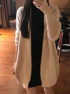 Korean Solid Women Cardigan Sweaters Outerwear