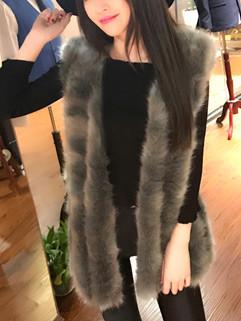 Luxury Outerwear Sleeveless Women Winter Coats