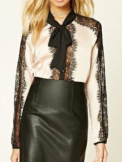 OL Bow Tie Blouse Design