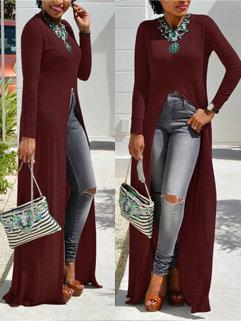 Fashion Asymmetrical Long T Shirt
