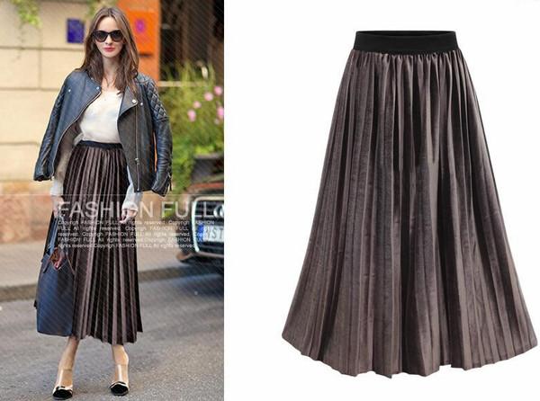 Euro Style Pleated Skirt Bottom
