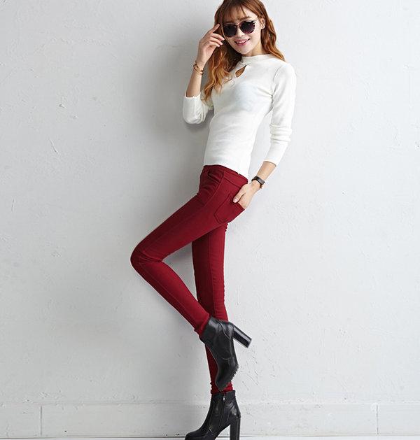 Five Colors High Waist Fleece Leggings