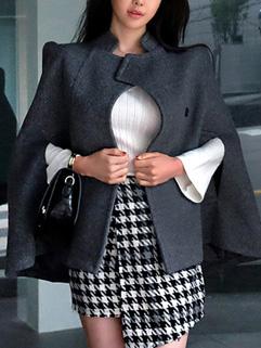 Winter Wool Poncho Coat Cardigan