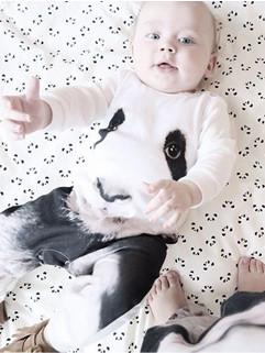 Newest Panda Print Baby Romper