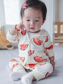 Watermelon Print Baby White Romper