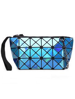 Wholesale Rhombus Pattern Zipper Clutch Bag