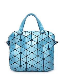 Euro Rhombus Zipper Up Handle Bag