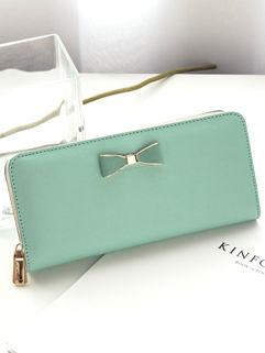 Cheap Outlet Bow Zipper Clutch Bag