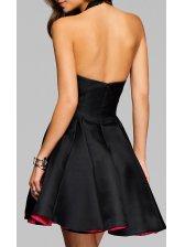 Halter V Neck Backless Prom Dress