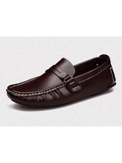Round Toe Men Footwear Simple Shoes
