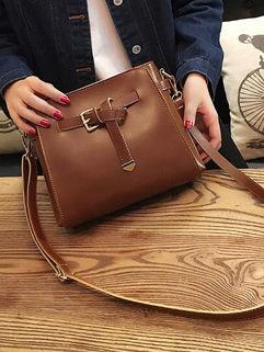 New Vintage Simple Style Shoulder Bags