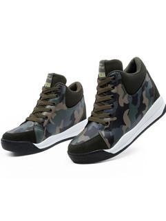 Round Toe Women Camouflage Footwear Sneakers